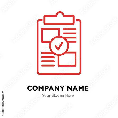 proof of concept company logo design template, colorful vector icon