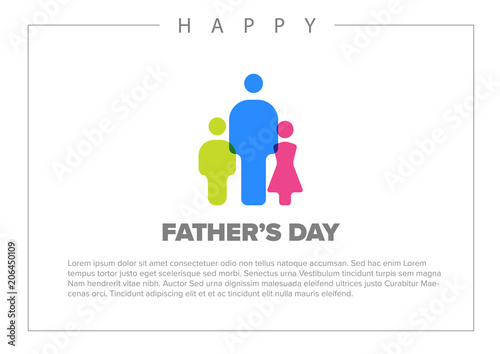 Happy Father\u0027s day card template - Buy this stock vector and explore