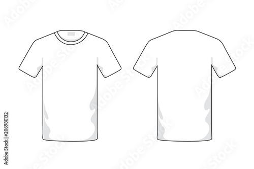 Blank white T-shirt template - Buy this stock illustration and