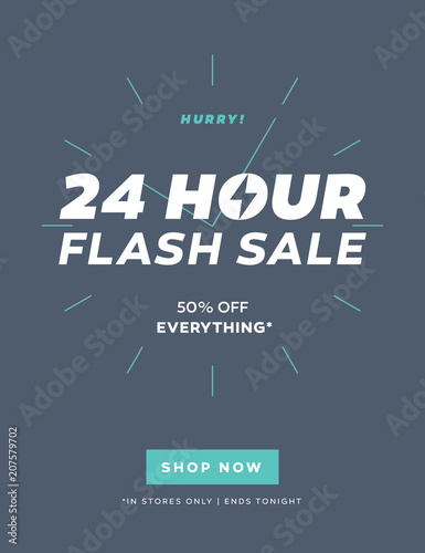 24 Hour Flash Sale Limited Offer Email Template with Shop Now Button