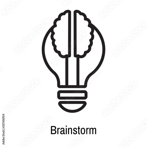 Brainstorm icon vector sign and symbol isolated on white background