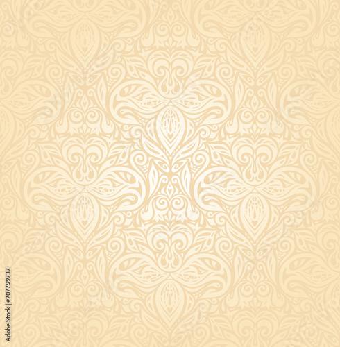 Bridal Retro wedding pale peach invitation background design - Buy