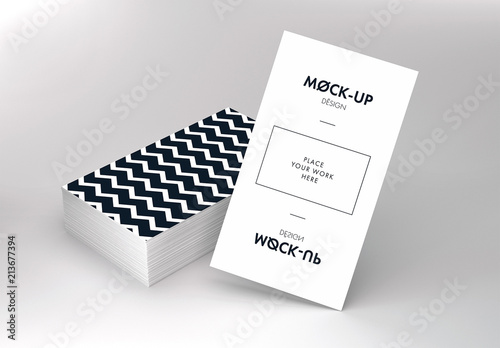 Vertical Business Cards Mockup Buy this stock template and explore