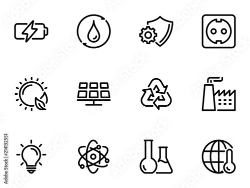 Set of black vector icons, isolated on white background, on theme