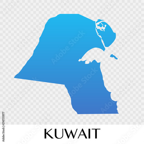 Kuwait map in Asia continent illustration design - Buy this stock