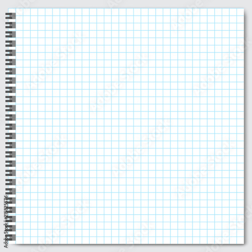Blank lined paper template, one page, Notebook  Exercise book