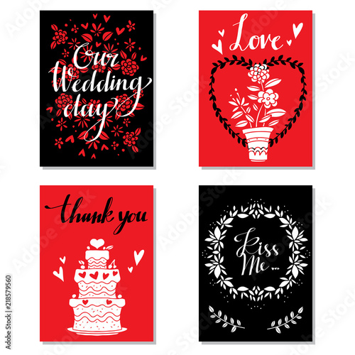 Greeting valentines day cards Wedding invitation - Buy this stock