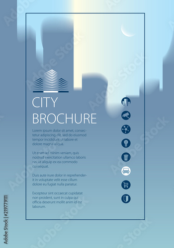 Simple city traveling tourist guide book Brochure, flyer, cover