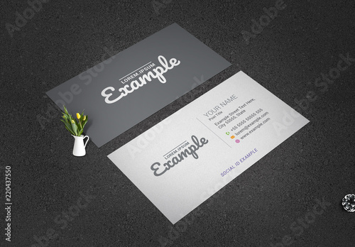 Grayscale Business Card Layout Buy this stock template and explore