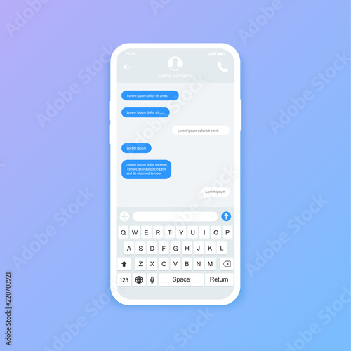 Chat interface Sms messages Speech bubbles Short message service