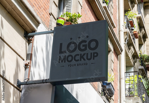 Store Sign Mockup Buy this stock template and explore similar