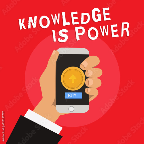 Writing note showing Knowledge Is Power Business photo showcasing