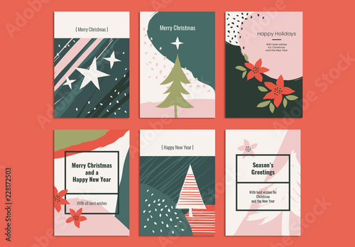 Christmas Card Layout Set Buy this stock template and explore