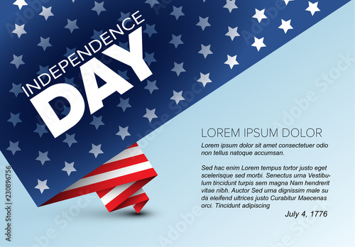 Independence Day Flyer with Flag Buy this stock template and