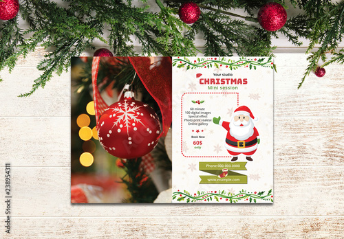Christmas Photography Flyer Layout Buy this stock template and