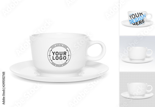 Ceramic Cup Isolated on White Mockup Buy this stock template and
