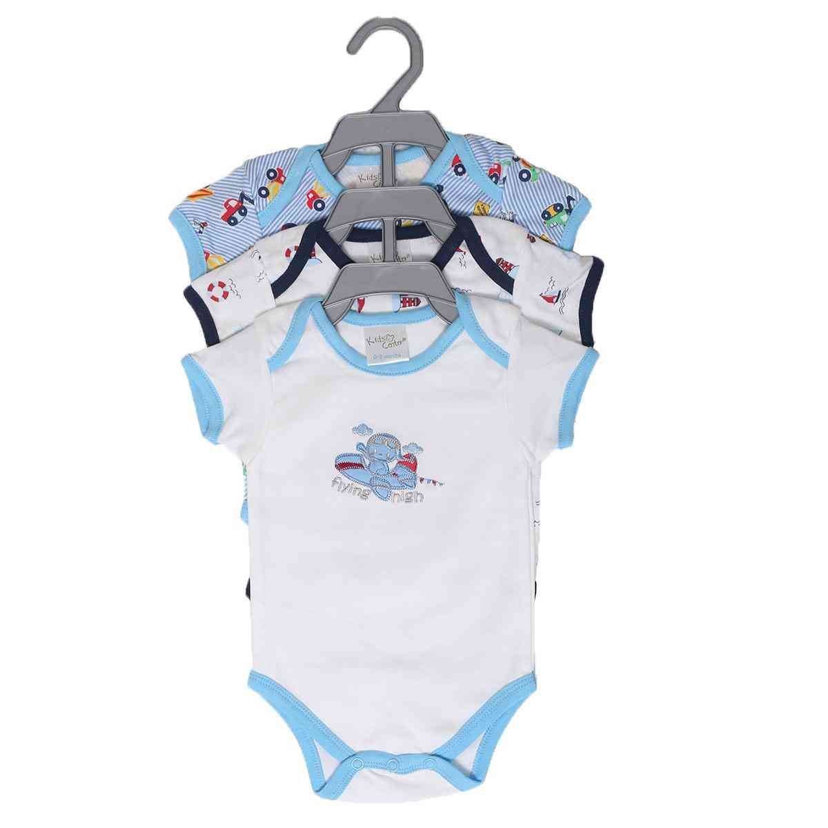 Newborn Babies Online Shopping Pack Of 3 Newborn Baby Romper Body Suit 100 Cotton Blue