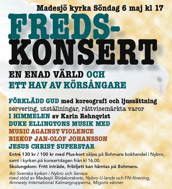 Fredkonsertannons
