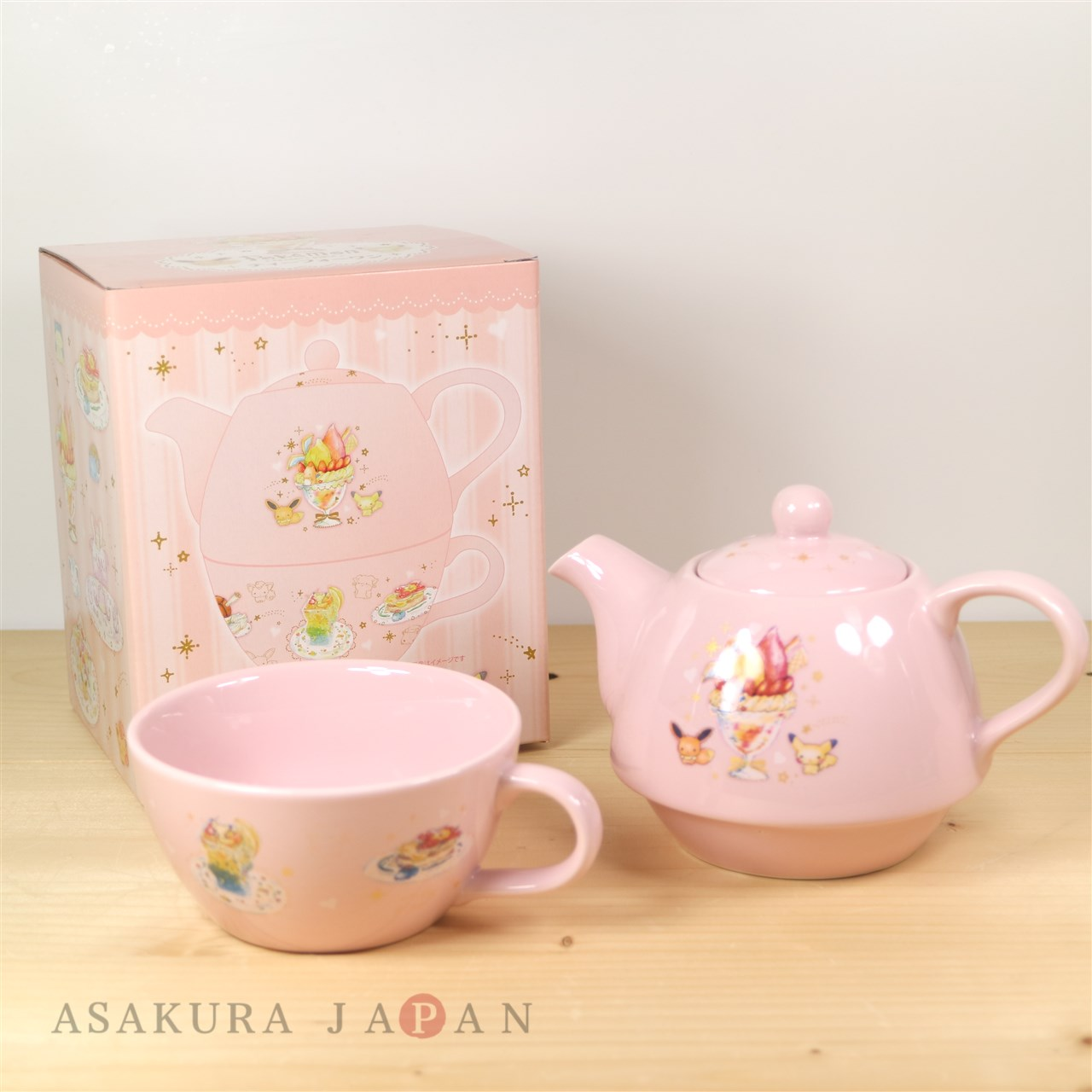 Teapot With Cup Pokemon Center 2017 Dessert Plate Tea For One Set Teapot Cup