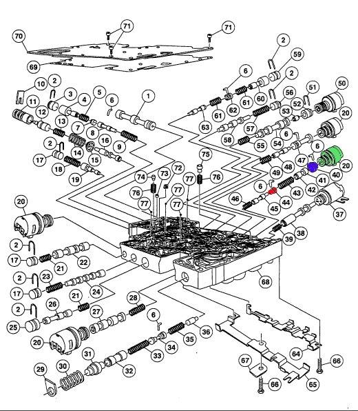 ford aod transmission wiring diagram