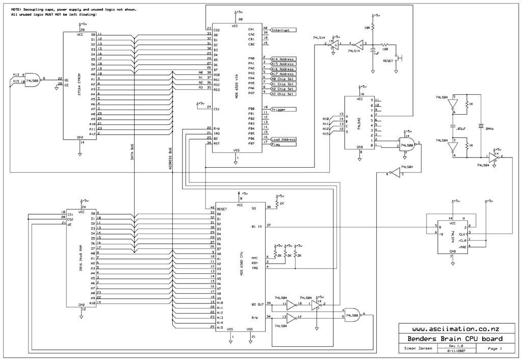 cpu schematic design