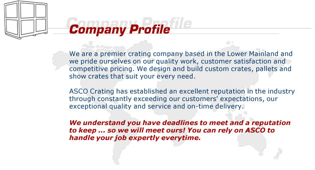 About Us - company profile samples