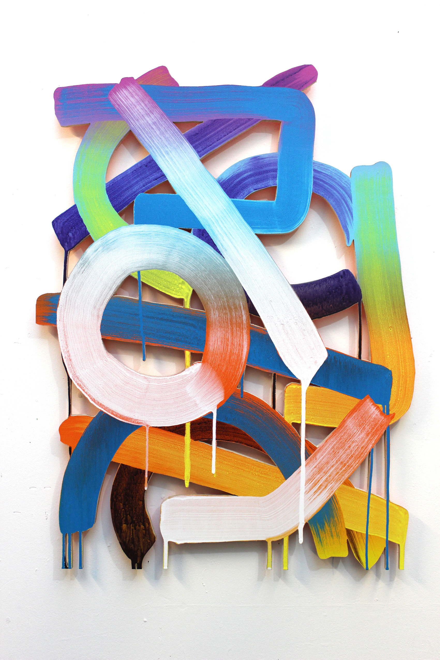 Ralph Anderson_Untitled Drip-Pop Painting_2014_Acrylic on Plywood_32x24