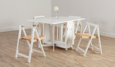 Baby Chairs Asda George Home Folding Compact Dining Table And 4 Chairs