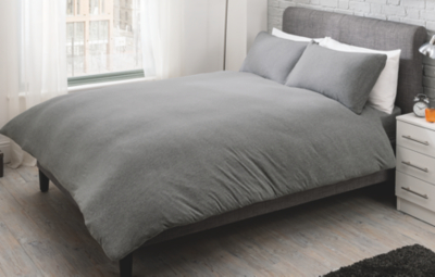 George Home Grey Jersey Bed Duvet Set Home Garden