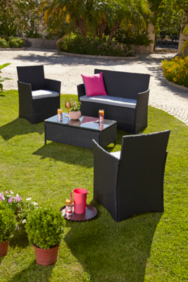 4 Piece Orlando Lounge Set Home Garden George At Asda - Lounge Sofa Orlando