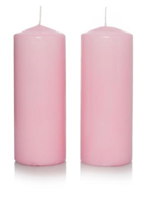 George Home Large Oriental Lily Scented Pillar Candles 2