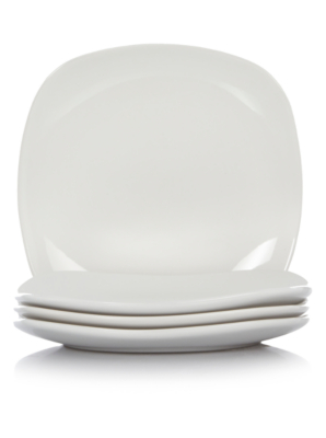 White Square Side Plates
