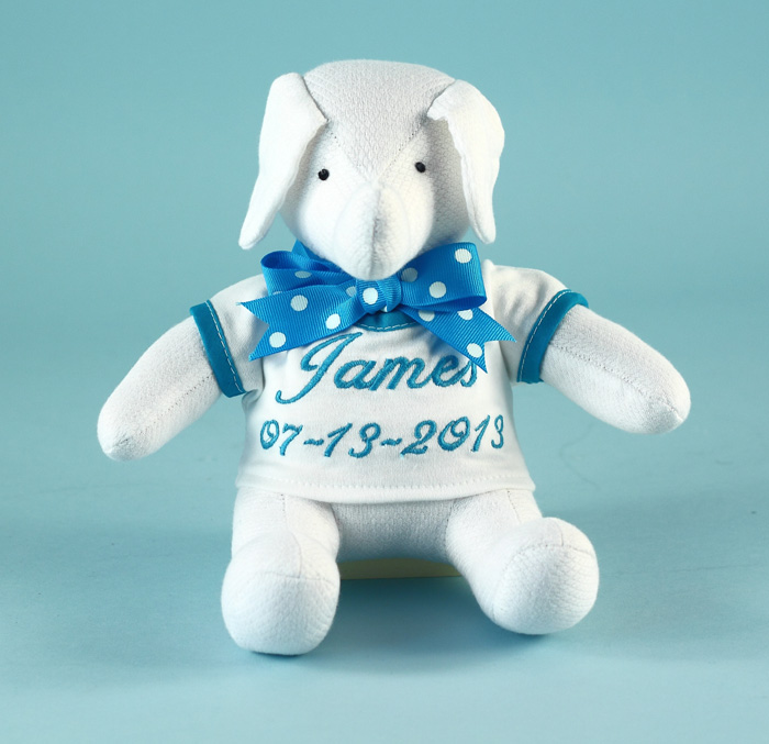Baby Newborn Christmas Outfits Keepsake Elephant Toy Personalized Baby Gift