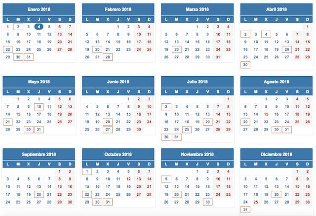 Calendario fiscal del contribuyente 2018 - asepyme
