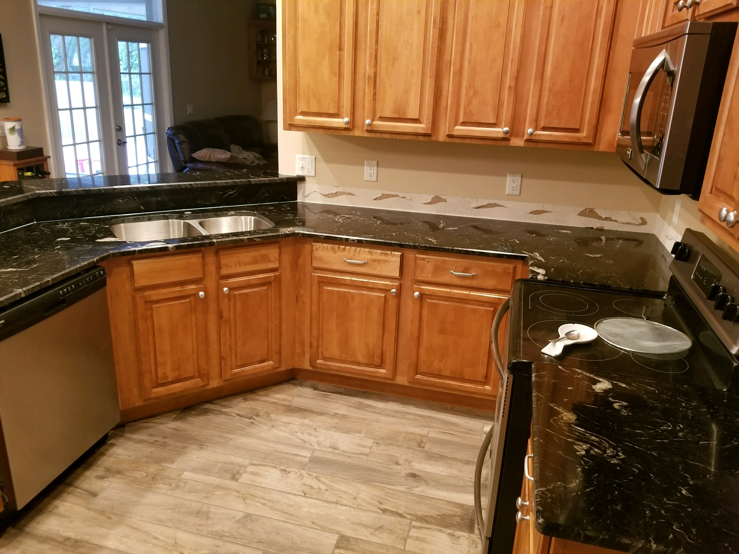 Black Titanium Granite Countertops Titanium Black Granite Kitchen Countertops Remodel In