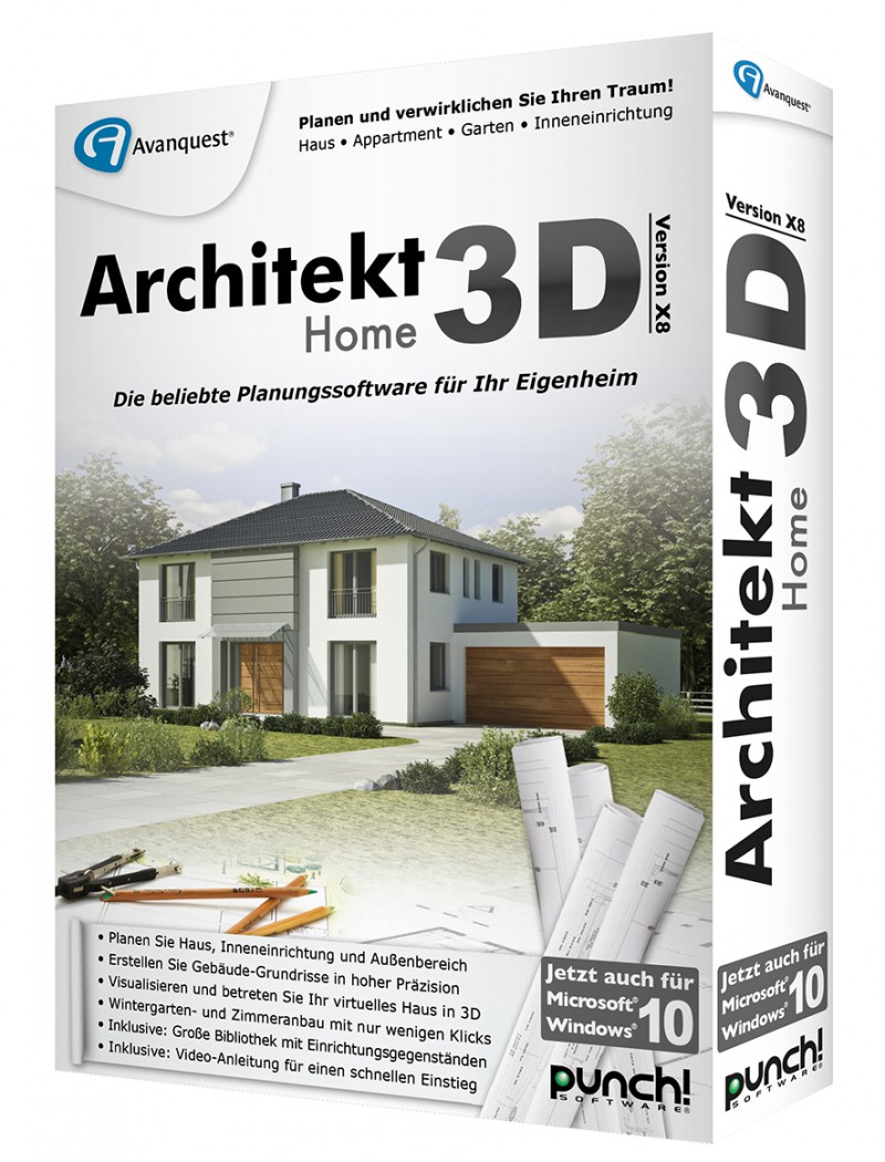 3d Architekt Architekt 3d X8 Home Box Deutsch Cd Dvd