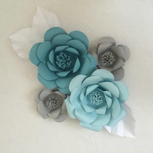 Medium Crop Of Paper Flower Wall