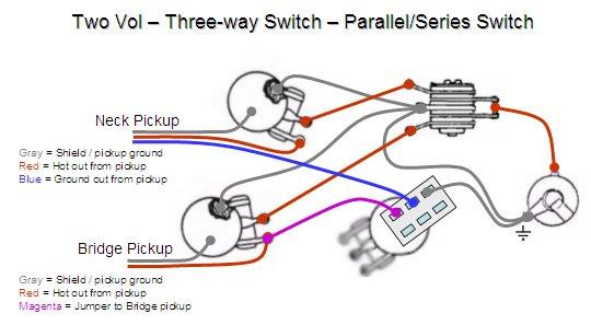 les paul 2 vol 2 tone guitar ground wiring diagram
