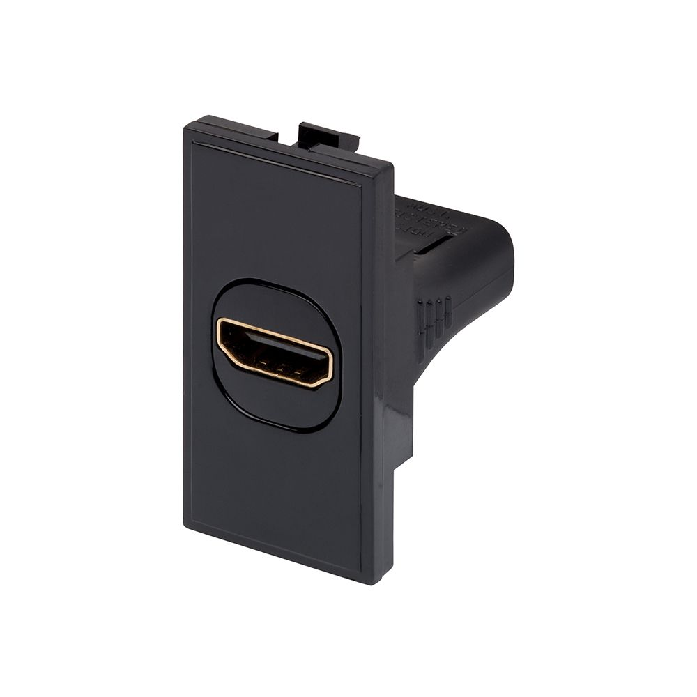 Hdmi Outlet Rt Hdmi Outlet 25mmx50mm Black 09037