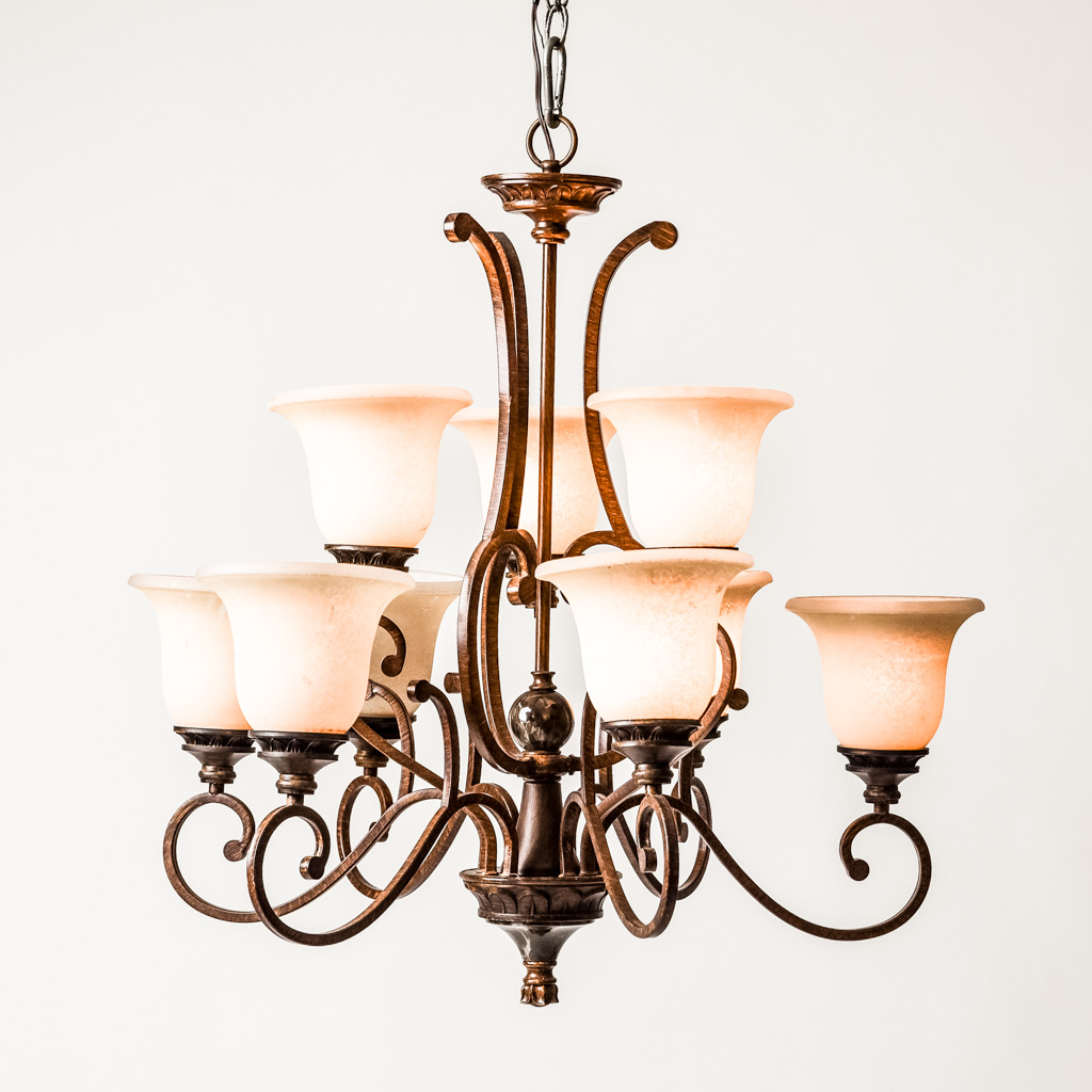 Wrought Iron Rectangular Chandelier Wrought Iron Chandelier Ashley And Company