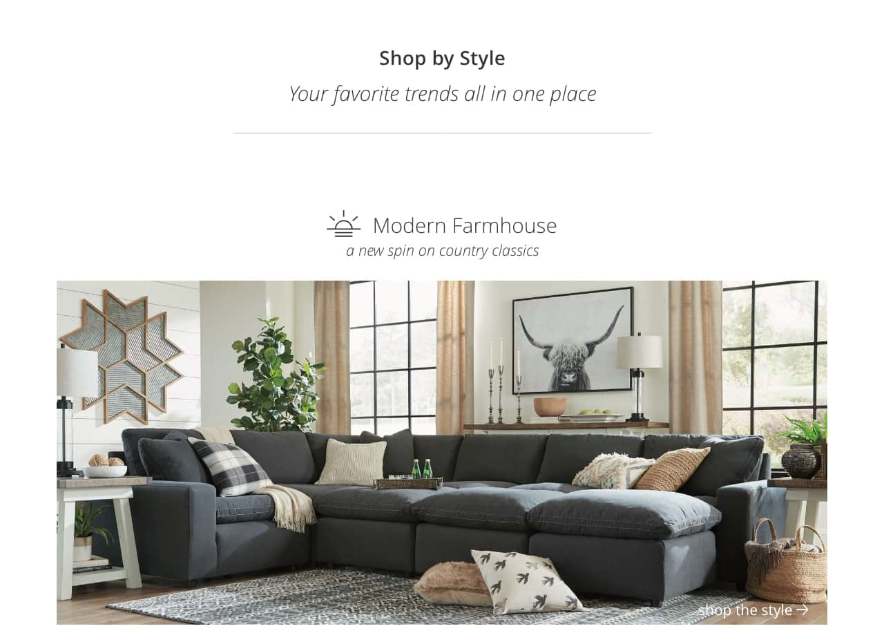 Farmhouse Coffee Shop Shop By Style Home Furnishings Decor Ashley Furniture Homestore