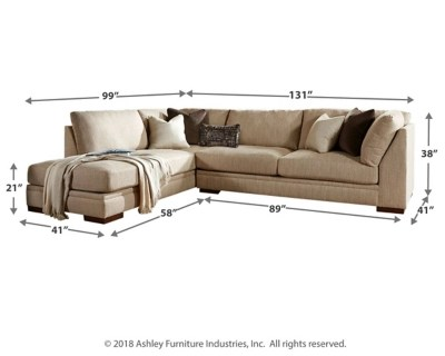 Meubles Ashley Floride Malakoff 2 Piece Sectional With Chaise Ashley Furniture Homestore