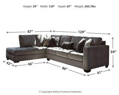 Owen 5 Piece Rattan Sofa Set With Cushions Owensbe 2 Piece Sectional With Chaise Ashley Furniture Homestore