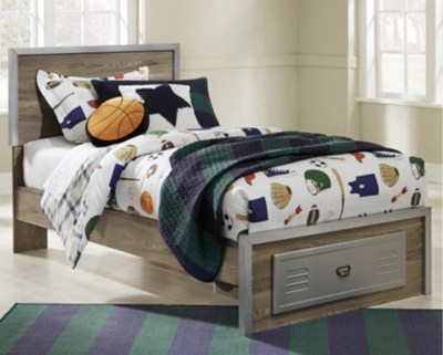 Mckeeth Twin Panel Bed With Storage Ashley Furniture