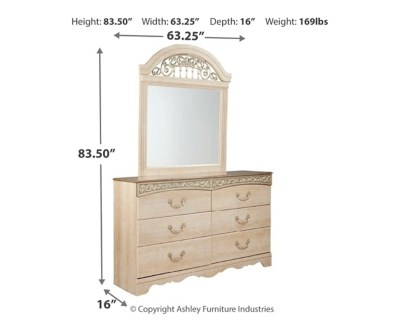 Meubles Ashley Floride Catalina Dresser And Mirror Ashley Furniture Homestore