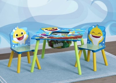 Delta Children Baby Shark Kids Table And Chair Set With Storage 2 Chairs Included Ashley Furniture Homestore