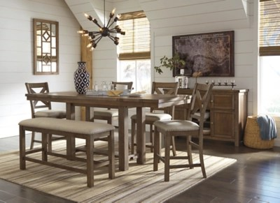 Large Dining Tables To Seat 10 Moriville Counter Height Dining Room Extension Table Ashley
