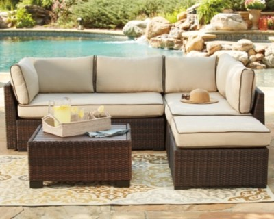 Loughran 4 Piece Outdoor Sectional Set Ashley Furniture