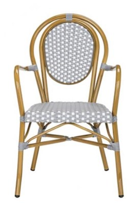 Rosen Outdoor French Bistro Stacking Arm Chair Set Of 2 Ashley Furniture Homestore