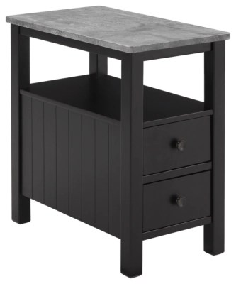 Black End Tables With Drawer Ezmonei Chairside End Table Ashley Furniture Homestore